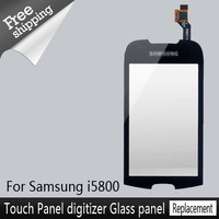 Best Selling Cheap price Front Black Touch Screen Panel LCD Display  Replacement  For samsung i5800 Free Shipping