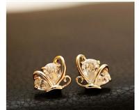 Phnom Penh, a small white butterfly earrings earrings super flash girl birthday gift C250