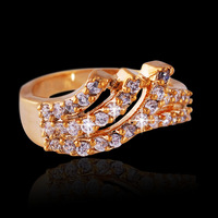 New 2014 luxury classic rings with 18K rose gold plated / fashion high quality with genuine Austrian crystals jewelry for women