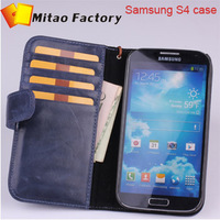 hot selling shipping leather cae for glaxary s4 case with really package by hongkong or Singapore post air mail