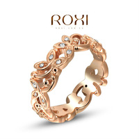 2014 ROXI brands fashion women ring, Austrian Crystals ,rose Gold Plated, wedding Ring Jewelry,wholesale,2010242230