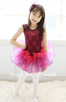 Sell like hot cakes aubergine And yellow sleeveless Girl's ballet skirt,3y-8years kid dress,kid's TUTU skort &Free freight