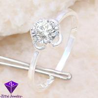 5pcs HR0594 5.8CT engagement dimond cz ring silver white topaz zircon jewellery for women ring size 7 .925 silver 5 pcs