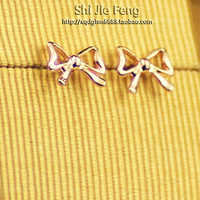 Jewelry fashion ol bow stud earring earrings female