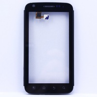 5 pcs/lot For Motorola Atrix 4G MB860 Touch Screen Front bezel frame with digitizer + Frame Free shipping