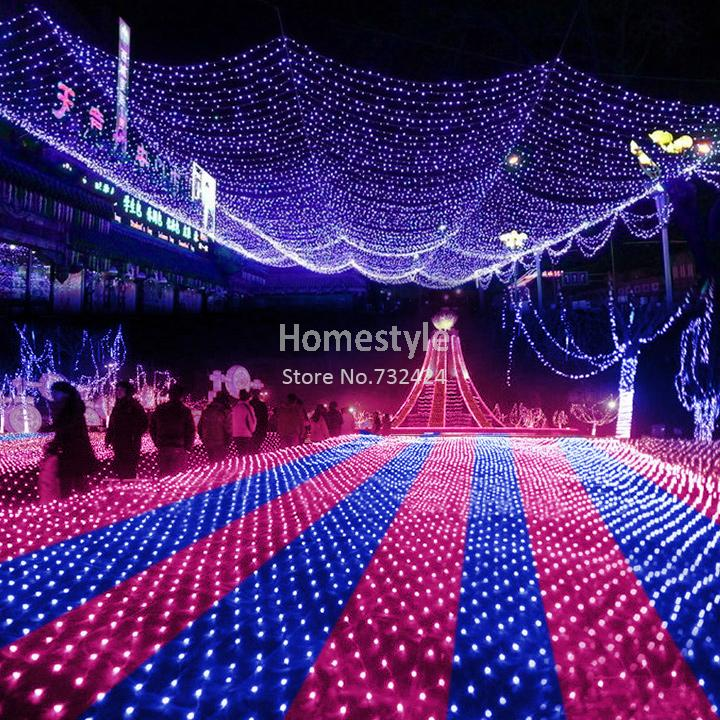 Blue 300 LED Decorative String Lights Net Mesh Fairy Lighting Christmas Wedding Party US Plug/110V TK1132(China (Mainland))