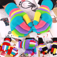children accessories HotSelling Candy Color Autumn Winter Thermal Children's Gloves Baby Girl Boy Gloves Keep Warm Kid's Mittens