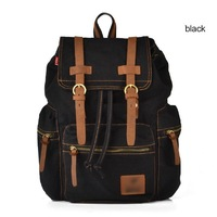 Men Women Vintage Canvas Backpack Travel Bags Computer Backpack Unisex Bags
