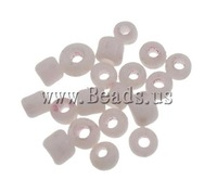 Free shipping!!!Opaque Glass Seed Beads,DIY,Jewelry DIY, Round, solid color, light pink, 2x1.9mm, Hole:Approx 1mm