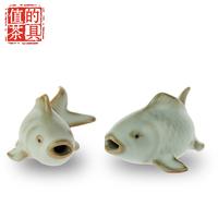 Kung fu tea bundle decoration piscean teaberries ceramic tea pet