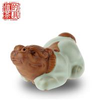 Beautiful ceramic pi xiu tea pet kung fu tea bundle tea play decoration