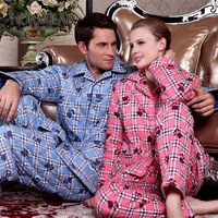 2013 autumn and winter thickening cotton-padded 100% plus cotton lovers sleepwear lounge