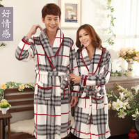 2013 autumn and winter lovers male Women quality thickening coral fleece flannel robe sleepwear bathrobes bathrobe
