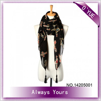 Lady's Fashion atin Scarf New Design Long Scarf