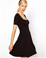 Super Elastic Women Brand Dress Short sleeve 6color Women's Sexy Dresses New Summer 2014 Female Fashion One-piece dress Clubwear