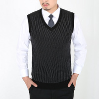 New 2014 mens clothing male business casual sweater vest V-neck pullover cashmere wool knitted sweater vest & waistcoat for men