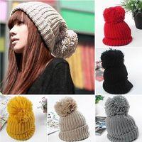 Fashion Unisex Campus Boys/Girls Knit Warm Oversized Lovers Cap Ski Bobble Hat