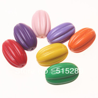 Mixed 17x29mm Oval Acrylic Beads 86pcs/lot