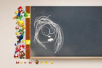 HOT! Super Mario Height Measurement 3D Wall Sticker Art Vinyl Home Decor Decal