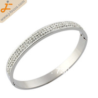stainless steel rhinestone bangle bracelet, with clay pave, A grade rhinestone, 2*8*69*59MM, sold by lot (10 pcs/lot)