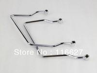 Freeshipping Freeshipping Chrome Saddle Bag Support Bar Mounts Bracket for 98-11 Yamaha V Star XVS 1100 Dragstar 400 650 Classic