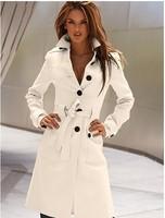 2012 winter chromophous after the fashion cashmere slim waist slim wool coat wool