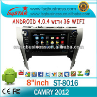 Android 4.0 Car Multimedia System For toyota Camry 2012 With A10 Chipset 1G CPU 4G Flash 3G Free WIFI dongle !
