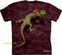 Free shipping men and women 3D t shirt made in USA 3d lizard creepiness pattern summer short-sleeve T-shirt