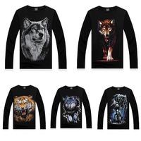 Fashion Men's 3D Wolf/Tiger/Death Print Sweatshirt Long Sleeve Pullover Tops 72133--72147