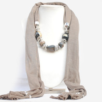 2013 New Jewelry Scarves Europe Hot Sell Jewelry Beads Scarf for Women