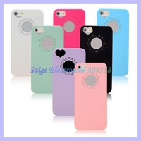 Beautiful Heart Flower Hollow Out Simple Slim Plastic Case For iPhone 5 5S