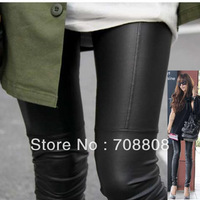 New 2014 Winter Thickening 2014 Fashion Sexy Ladies Women Patchwork Super Faux Leather Leggings Stretchy Pants Punk Trouser