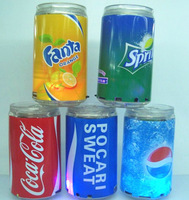 Colorful lights transparent coke insert card speaker mini audio cans sound card