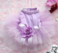 HANDMADE !!! very super purple tutu dress for dog puppy cat puppy pet summer clothes