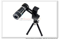 20PCS/Lot photography Camera Telescope Lens Tripod 12 Magnifier Telephoto  Clip-on Lens for iPhone