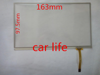 1 pc 7 inch 4 pin resistive touch screen panel  163mm*97.5mm for  car DVD GPS free shipping