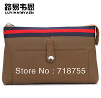New 2013 style man bag High quality men's clutchs Fashion brand genuine leather clutch Large capacity wallet superior quality