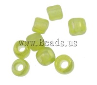 Free shipping!!!Rainbow Glass Seed Beads,ladies jewelry, Round, rainbow, translucent, apple green, 2x1.9mm, Hole:Approx 1mm