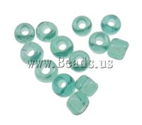 Free shipping!!!Lustered Glass seed Beads,New Year Gift, Round, luster, translucent, light green, 2x1.9mm, Hole:Approx 1mm