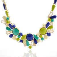 Free shipping wholesale 2014 fashion large stone necklace