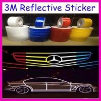 3M Reflective Sticker Motorcycle / Car Luminous Tape Reflective Strip Decal Vinyl 1.5cm*46M/Roll