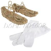 DSHL Lightweight Cosplay Bleach Straw Sandals Slipper Shoes for Anime fans