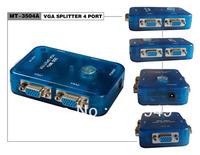 Wholesale 40psc/lot MT-3504A 350MHZ MINI 4 PORT VGA SPLITTER,Free Shipping By FedEx