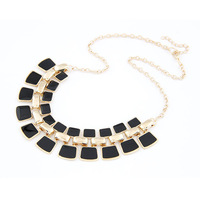 2014 Wholesale Fashion Gold Plated Alloy Fashionable Hollow Out Enamel Punk Statement Necklaces YN091