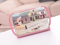 Fashion pink color Beauty Shopping Printing PU Leather Shoulder Bag cross-body small bags little princess handbag