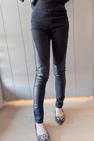 Grani- small 2013 women's trousers female trousers slim denim patchwork