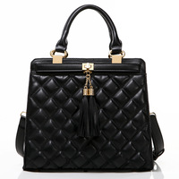 2013 plaid bag tassel handbag shoulder bag messenger bag female bags