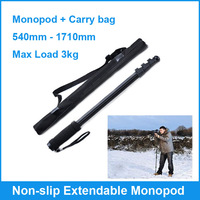 Go Pro Accessories Non-slip Extendable Monopod Rubber Foot For Gopro HD Hero3 2 3+ Black Edition with Camera Video Bag