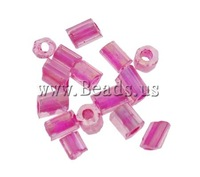 Free shipping!!!Colour Lined Glass Seed Beads,2013 new summer, Tube, color-lined, purple, 2x2mm, Hole:Approx 1mm