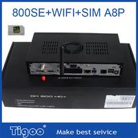 Best Quality 800SE HD WIFI D6 Version Sim A8P DVB-S2 Satellite Receiver DM LOGO Free Shipping 1pcs